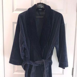 Men's velour bathrobe